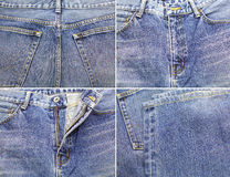 Fond bleu de treillis de denim Image libre de droits