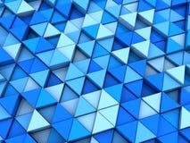 Fond bleu de triangles Photographie stock
