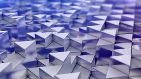 Fond bleu de triangles Photo stock