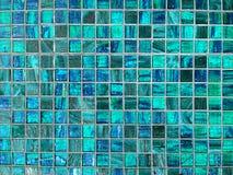 Fond bleu de tuile photographie stock