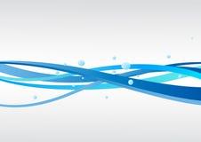 Fond bleu de vecteur avec des ondes Photographie stock libre de droits