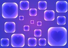 Fond bleu de vecteur avec les places bleues transparentes Photo libre de droits