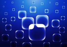 Fond bleu de vecteur avec les places bleues transparentes Photos libres de droits