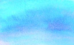 Fond bleu de vecteur d'aquarelle Contexte abstrait de tache de place de peinture de main illustration libre de droits