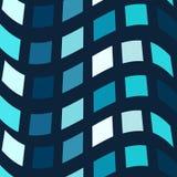 Fond bleu de vecteur de mosaïque Image libre de droits