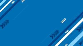Fond bleu de vecteur de technologie avec les rayures et les flèches diagonales Photos libres de droits