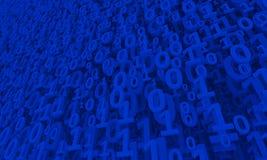 Fond bleu des chiffres Images stock