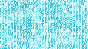 Fond bleu des symboles animés banque de vidéos