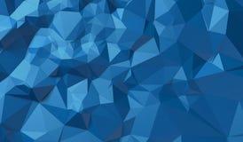 Fond bleu des triangles Photos stock