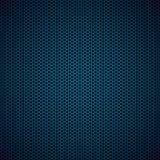 Fond bleu en métal d'hexagone Photos stock