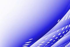 Fond bleu et blanc abstrait Photographie stock libre de droits
