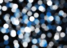 Fond bleu et blanc abstrait de tache floue Images libres de droits