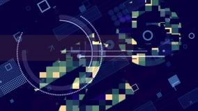 Fond bleu et blanc futuriste de techno illustration libre de droits