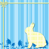 Fond bleu et jaune de lapin Photo libre de droits