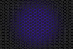 Fond bleu et noir d'hexagone Photos stock