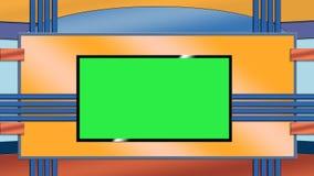 Fond bleu et orange de studio de TV Photos libres de droits