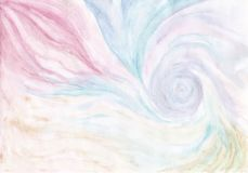 Fond bleu et rose abstrait d'aquarelle Photos libres de droits