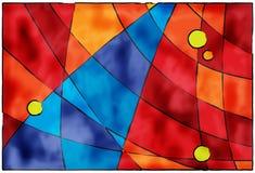 Fond bleu et rouge abstrait Image libre de droits