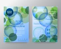 Fond bleu et vert coloré abstrait de cercles pour le bro d'affiche illustration stock