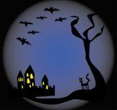 Fond bleu fantasmagorique Image libre de droits