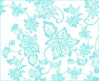 Fond bleu fleuri de fleur Photo libre de droits