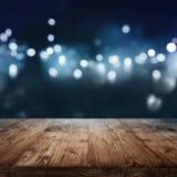 Fond bleu-foncé avec des effets de la lumière photo stock