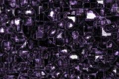 Fond bleu-foncé bleuâtre de grunge de circuit de techno Images libres de droits