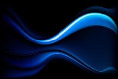 Fond bleu-foncé d'onde Images stock