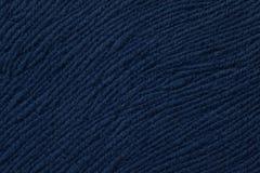 Fond bleu-foncé de matériel de textile mou Tissu avec la texture naturelle Photo libre de droits