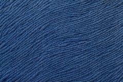 Fond bleu-foncé de matériel de textile mou Tissu avec la texture naturelle Photographie stock libre de droits