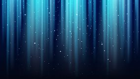 Fond bleu-foncé vide avec des rayons de lumière, étincelles, ciel brillant d'étoile de nuit illustration stock