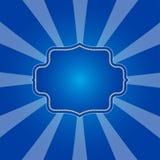 Fond bleu froid de rayons dans la rétro conception illustration libre de droits