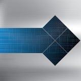 Fond bleu futuriste de vecteur abstrait illustration stock