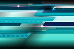 Fond bleu géométrique Photo stock