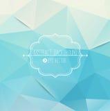 Fond bleu géométrique abstrait Image stock