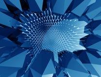 Fond bleu géométrique abstrait Photos libres de droits