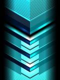 Fond bleu graphique géométrique Photographie stock libre de droits