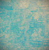 Fond bleu grunge sur le ciment Photos stock