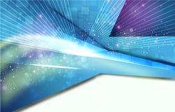 Fond bleu lumineux abstrait Photo libre de droits