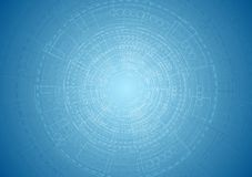 Fond bleu lumineux abstrait d'ingénierie de technologie illustration stock