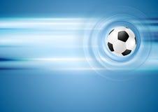 Fond bleu lumineux du football Photos stock