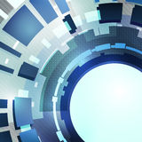 Fond bleu moderne abstrait. Image stock