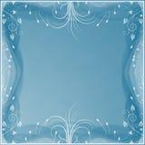 Fond bleu mou avec les éléments floraux Photos libres de droits
