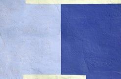 Fond bleu multicolore coloré de peinture de mur Image libre de droits