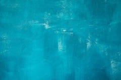 Fond bleu peint à la main abstrait de peinture Images libres de droits