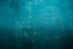 Fond bleu peint à la main abstrait de peinture Photographie stock