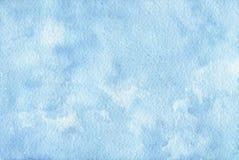 Fond bleu peint à la main d'aquarelle Texture abstraite illustration de vecteur