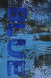Fond bleu peint Photographie stock