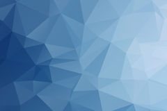Fond bleu polygonal abstrait de couleur Images libres de droits