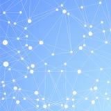 Fond bleu polygonal. Connexion moléculaire abstraite Photographie stock libre de droits